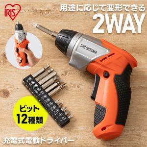 電動ドライバー 充電式 DIY LEDライト コードレス アイリスオーヤマ 軽量 JCD-421-D