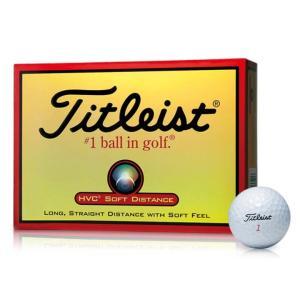 ゴルフ ボール 飛 距離 ゴルフボール ゴルフ用品 Titleist ゴルフ ボール HVC SOFT DISTANCE 1ダース 1HVSD-J タイトリスト|unidy-y