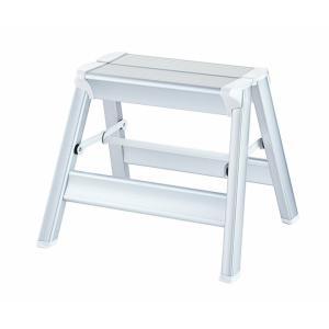 踏み台 アルミ はしご ハシゴ 梯子 はしご兼脚立 インテリア おしゃれ スキットステップ 3年補償 シルバー SK2.0-03S|unidy-y