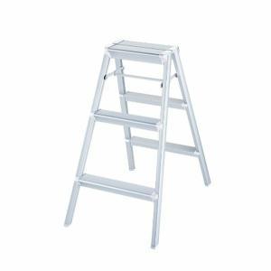 踏み台 アルミ はしご ハシゴ 梯子 はしご兼脚立 インテリア おしゃれ スキットステップ 3年補償 シルバー SK2.0-08S|unidy-y