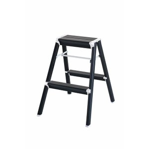 踏み台 アルミ はしご ハシゴ 梯子 はしご兼脚立 インテリア おしゃれ スキットステップ 3年補償 ブラック SK2.0-06BK|unidy-y