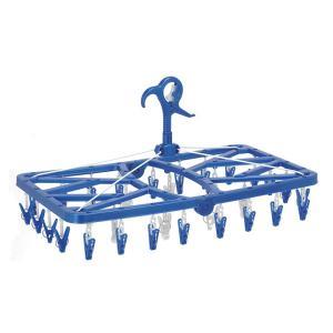 ピンチハンガー 洗濯 洗濯物干し おしゃれな洗濯ピンチハンガー 360°回転 ピンチが自由に回る角ハンガー32P 21094 東和産業|unidy-y
