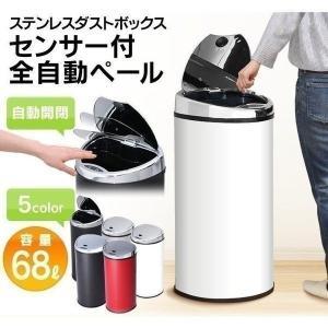 ゴミ箱 68L ごみ箱 分別 ダストボックス ふた付き センサー 付 全自動 ペール 大型 シンプル おしゃれ かっこいい 台所   ◎の写真