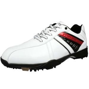 メンズ ゴルフシューズ SNAKE EYES(スネークアイ) ソフトスパイクシューズ SESH-4501 ホワイト レザックス|unidy-y