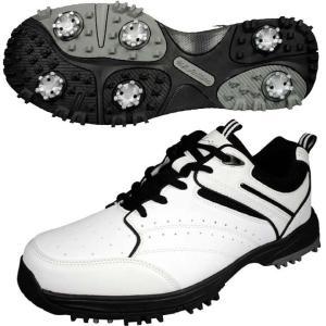 メンズ ゴルフ シューズ US athlete ユーエスアスリート ゴルフ ソフトスパイク USSH-4507 ホワイト レザックス ▼|unidy-y