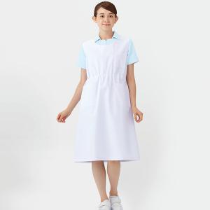 エプロン 924-30 ナースエプロン 予防衣 男女兼用 袖なし 制菌加工 メディカルウェア 医療 ...
