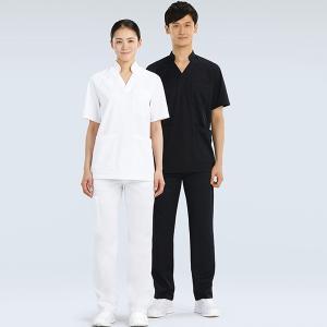 スクラブ 134-10 134-55 医療 メディカル 白衣 看護 介護 男女兼用 半袖 クリニック...