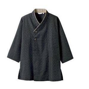 シャツ 2-391 和風シャツ 七分袖 男女兼用 和風 トップス 料亭 割烹 レストラン 飲食 住商...