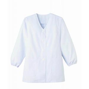 調理白衣 抗菌 レディース 長袖 飲食 調理服 調理 白衣 板前服 厨房服 厨房白衣 衿なし サンペ...
