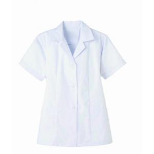 調理白衣 抗菌 レディース 半袖 飲食 調理服 調理 白衣 板前服 厨房服 厨房白衣 衿付 サンペッ...