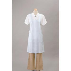 ナガイレーベン エプロン 白衣 医療 介護 ストライプ 男女兼用 SR16