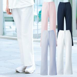 ストレートパンツ(クレアシオン)/2917【医療白衣・ナース服】ホワイト・ブルー・ピンク・ネイビー/S-4L|uniform-net-shop