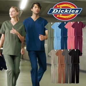 ディッキーズ スクラブ パンツ セット 白衣 医療 メンズ レディース 男女兼用 7033SC 5017SC フォーク|uniform-net-shop
