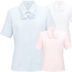 事務服リボンブラウス半袖 RB4533 フルダルピケ ボンマックス BON|uniform-store|02