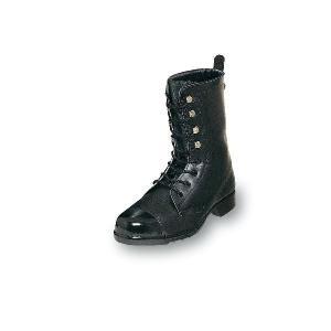 安全靴 爪先強化 外鋼板安全靴 長編みブーツ 牛革製 エンゼル|uniform100ka