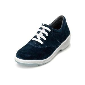 安全靴 スマートなデザイン 女性用安全靴 ベロア 紐タイプ 牛革製 エンゼル|uniform100ka