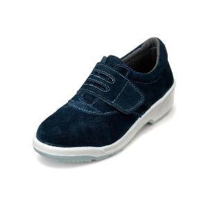 安全靴 スマートなデザイン 女性用安全靴 ベロア マジックテープ 牛革製 エンゼル|uniform100ka