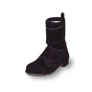 安全靴 優れた耐熱性 溶接用安全靴 マジックテープブーツ 牛革製 エンゼル|uniform100ka