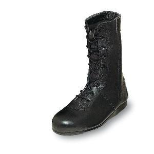 安全靴 消防作業靴 柔らかい 優れた耐滑性 消防・レンジャー靴 長編みブーツ チャック付き 牛革製 エンゼル uniform100ka