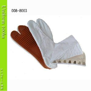 地下足袋 白綾 7枚コハゼ 手縫い付底 きねや足袋 8003|uniform100ka