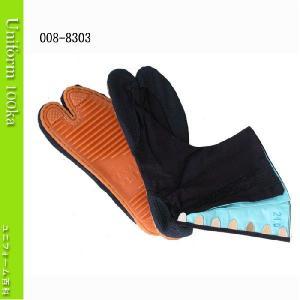 地下足袋 青縞 7枚コハゼ 手縫い付底 きねや足袋 8303|uniform100ka