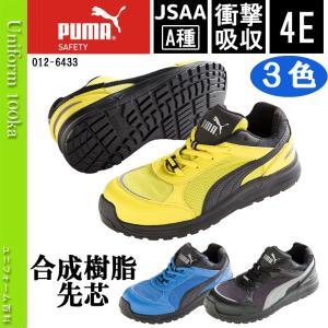 安全靴 作業靴 PUMA(プーマ)エレメンタルプロテクトスプリント/幅広・甲高/JSAA A種/衝撃吸収/4E/No,64.33/2017年新作|uniform100ka