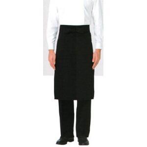 ソムリエ前掛 プロの風格 ブラック SUNPEX|uniform100ka