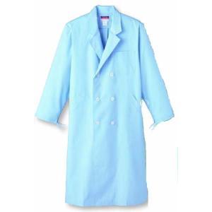 男性用診察衣 W型 長袖 デザインにもこだわる ダブルスタイル SUNPEX|uniform100ka