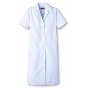 女性用診察衣 S型 半袖 抗菌加工 快適クールビズ SUNPEX|uniform100ka