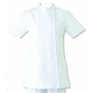 女性用コート 半袖 看護の現場環境を追求 ナースウェア SUNPEX ホワイト|uniform100ka