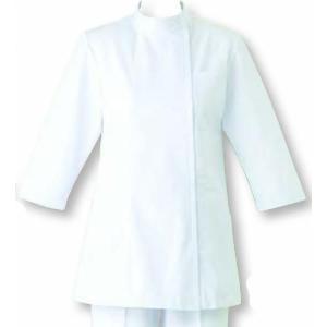 女性用コート 七分袖 ナースウェア SUNPEX ホワイト|uniform100ka