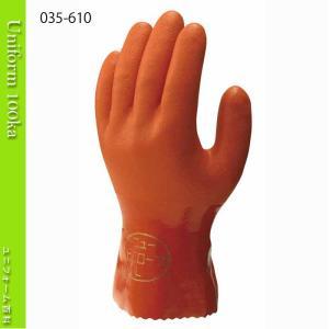 作業用手袋 オールコート手袋 ニュービニローブ 1袋10双入り 裏布付 ショーワグローブ 610|uniform100ka