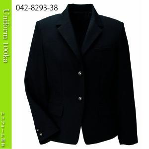 事務服 ジャケット リアルブラック ソフトベネシャン・ゴールド飾り ハネクトーン|uniform100ka