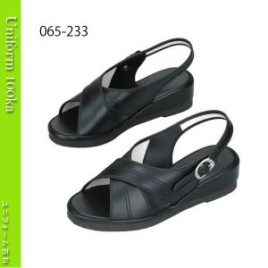 靴 シューズ ナース ドクター 医療 安心の日本製  高品質なナースサンダル(クロスバンド) 黒 黒底 サイトーシューズ|uniform100ka