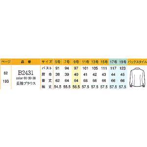 長袖ブラウス B2431-38 ナカヒロ ハイナック|uniform1|02