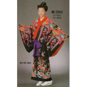 仕立上り沖縄民謡衣裳 縄印(単衣仕立) 2962-B 日本の歳時記|uniform1