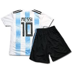 アルゼンチン代表ホーム/リオネル・メッシ/MESSI/背番号10/子供用/2018サッカーユニフォーム/ノンブランドレプリカユニフォーム