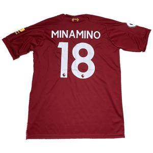 2020サッカーユニフォーム/リヴァプールホーム/南野拓実/MINAMINO/背番号18/ノンブラン...