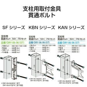 タカラ産業 物干取付金具 支柱用 貫通ボルト DRY-06-07 unimoku