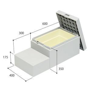 城東テクノ JOTO ハウスステップ CUB-6040S 収納庫1個付き 小ステップ付き HOUSESTEP unimoku