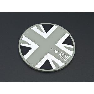 R56 BMW MINI用ドリンクホルダーコースター(ユニオンジャック/白黒) unionproduce