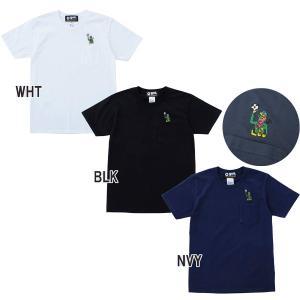 メンズ Tシャツ ゴル GOL. 刺繍ポケット Tシャツ g092-764
