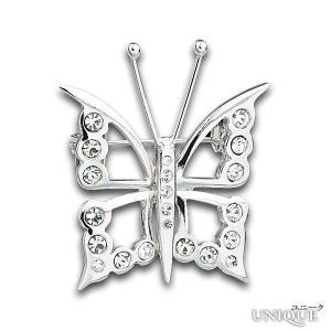 PRECIOSA 【プレシオサ】 Klara 蝶ブローチ (クリスタル色) ★ Pin - Crystal ★ 【20%OFF】|unique-world