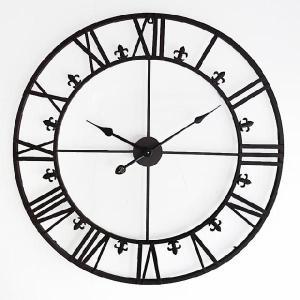 アイアン 壁掛け 時計 シャビー アンティーク レトロ インダストリアル|uniroyal|02