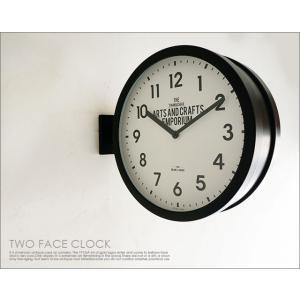 両面壁掛け時計 uniroyal