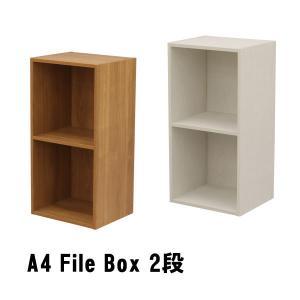 カラーボックス 2段 A4ファイル 収納 収納ケース テレワーク 本棚 送料無料 スリム オープンラ...