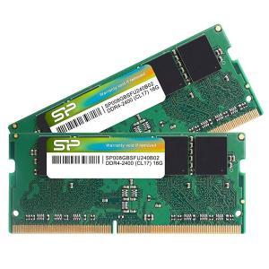 シリコンパワー  ノートPC用メモリDDR4-2400(PC4-19200) 8GB×2枚 260P...