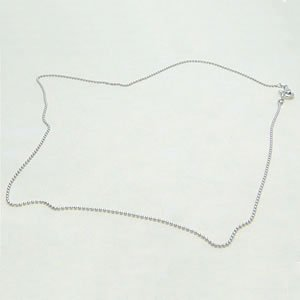 【即納】シルバー925製ネックレス用パーツのボールチェーン 約40cm メール便可|united-jewellery
