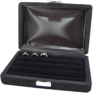 指輪が最大24個も収納できるリングコレクションケース (ブラック) united-jewellery