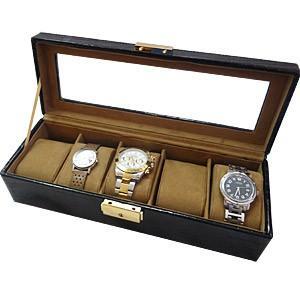 腕時計の収納はこれにおまかせ クロコ柄の鍵付きウォッチコレクションケース(5本用) united-jewellery